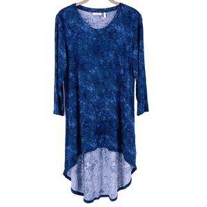 LOGO Layers Midnight Blue Acid Wash Jersey Tunic